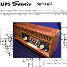 Radios antiguas: ESQUEMAS RADIO PHILIPS SIRIUS 433. Lote 141624704