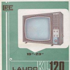Radios antiguas: ELECTRONICA, HOJA PUBLICITARIA TELEVISOR LAUDO MOD.KL120 - COMERCIAL RADIO ELECTRICIDAD. Lote 82056940