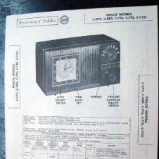 Radios antiguas: ELECTRONICA, DOCUMENTACION TECNICA RADIO RELOJ PHILCO MOD, C579 - C579 - C716 - C718 Y C720. Lote 31883793