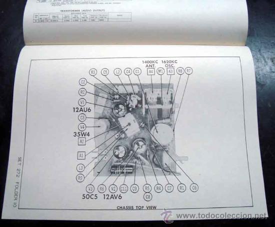 Radios antiguas: Electronica, Documentacion tecnica radio reloj Philco mod, C579 - C579 - C716 - C718 y C720 - Foto 2 - 31883793