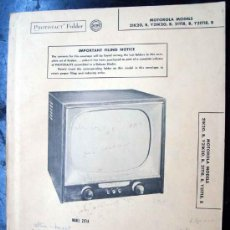 Radios antiguas: ELECTRONICA, DOCUMENTACION TECNICA TELEVISOR MOTOROLA. Lote 82056908