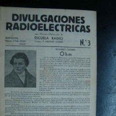 Radios antiguas: ELECTRONICA, CUADERNO NUM. 3 DIVULGACIONES RADIOLECTRICAS - ESCUELA RADIO MAYMO - AÑOS 50. Lote 31898354