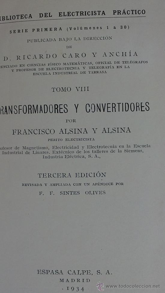 Radios antiguas: &-MEDICIONES ELECTRICAS DE TALLER-BIBLIOTECA DEL ELECTRICISTA PRACTICO(ESPASA-CALPE) - Foto 2 - 32202295
