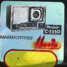Radios antiguas: CRISTAL PUBLICIDAD: RADIOS IBERIA. Lote 32488613