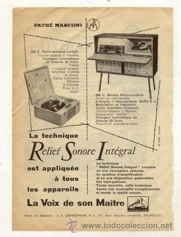 RECORTE PUBLICIDAD // RADIO - TOCADISCOS (Radios, Gramófonos, Grabadoras y Otros - Catálogos, Publicidad y Libros de Radio)