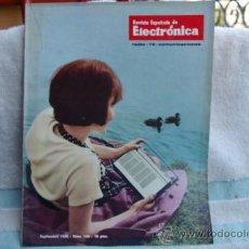 Radios antiguas: REVISTA ESPAÑOLA DE ELECTRONICA-N-166 JULIO 1968. Lote 32589209