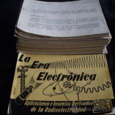 Radios antiguas: CURSO DE RADIO MAYMO- LA ERA ELECTRONICA. Lote 32707357