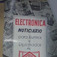 Radios antiguas: 17 NUMEROS DE LA REVISTA-ELECTRONICA(ENCUADERNADOS Y BIEN CONSERVADOS).GRAFICAS MAYMO.ESCUELA RADIO. Lote 33269001