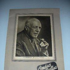 Radios antiguas: ONDAS Y ESTRELLAS CIRCULAR EXTRAORDINARIA IN MEMORIAM DR. A. F. PHILIPS 1951 MUY RARO ESPECIAL. Lote 33690548