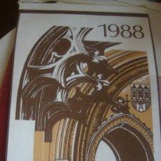 Rádios antigos: CALENDARIO RADIO PRAGA 1988 DIFICIL. Lote 33788990