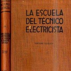 Radios antiguas: MÁQUINAS DE CORRIENTE CONTINUA (ESCUELA TÉCNICO ELECTRICISTA LABOR, 1959). Lote 34440473