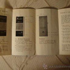 Radios antiguas: ANTIGUO CATALOGO DESPLEGABLE DE RADIO ONKYO. Lote 35410123