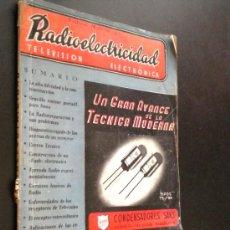 Radios antiguas: RADIOELECTRICIDAD. REVISTA DE RADIO Nº 193 ABRIL 1955.. Lote 50955303