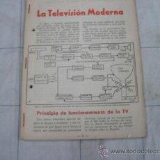 Radios antiguas: LA TELEVISION MODERNA. Lote 36804240