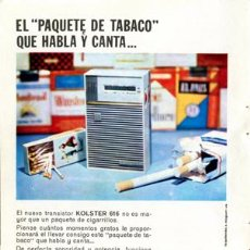 Radios antiguas: PÁGINA PUBLICIDAD ORIGINAL *TRANSISTOR KOLSTER 616* - AGENCIA IZQUIERDO & NOGUERAS - AÑO 1962. Lote 36938091
