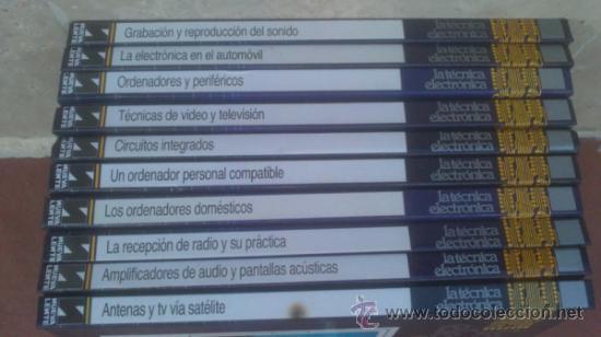 LA TÉCNICA ELECTRÓNICA. BIBLIOTECA PRÁCTICA NUEVA LENTE.10 VOLUMENES (Radios, Gramófonos, Grabadoras y Otros - Catálogos, Publicidad y Libros de Radio)