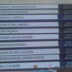 Radios antiguas: LA TÉCNICA ELECTRÓNICA. BIBLIOTECA PRÁCTICA NUEVA LENTE.10 VOLUMENES. Lote 37103693