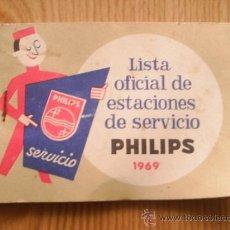 Radios antiguas - LISTA OFICIAL DE ESTACIONES DE SERVICIO PHILIPS - 1969 - 38662106
