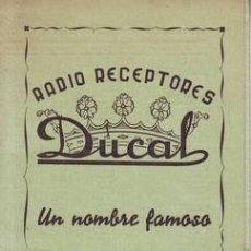 Radios antiguas: RADIO RECEPTORES DUCAL. LISTA DE EMISORAS.. Lote 38758409