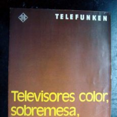 Radios antiguas: FOLLETO - CATALOGO TELEVISION - TELEVISORES COLOR TELEFUNKEN. Lote 107470972