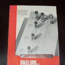 Radios antiguas: MANUAL DEL AMPLIFICADOR PHILIPS MINIWATT. Lote 39639470