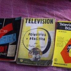 Radios antiguas: LOTE 3 LIBROS TELEVISION-900 PAGS-AÑOS 70. Lote 39718494