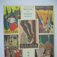 Radios antiguas: POSTAL DE RADIOAFICIONADO QSL MALAGA - CARTELES SEMANA SANTA DE MALAGA 1957, 56, 55, CIRCULADA 1957. Lote 41711299