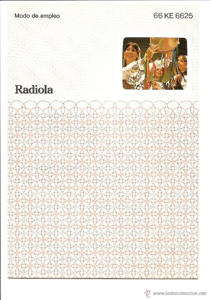 Radios antiguas: LOTE MANUAL EMPLEO TELEVISOR RADIOLA 66 KE 6625 + GARANTÍA + PLANO CIRCUITOS EN ITALIANO - Foto 3 - 40018438