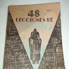 Radios antiguas: ANTIGUO LIBRO MANUAL CON 48 LECCIONES DE RADIO TOMO III - MANUAL DE 48 LECCIONESDE RADIO, PARA RADIO. Lote 38251843