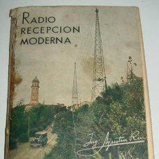 Radios antiguas: POR AGUSTÍN RIU - AÑO 1939 - CON MUCHISIMOS GRAFICOS Y ESQUEMAS - 190 PAG. - POR LA ZONA DEL LOMO TI. Lote 38265858