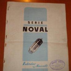 Radios antiguas: FOLLETO CATALOGO SERIE NOVAL , VALVULAS MINIWAT (RADIO) 1954. Lote 41014105