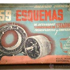 Radios antiguas: 159 ESQUEMAS DE DEVANADOS Y CONEXIONES DE ESTATORES MONOFÁSICOS Y TRIFÁSICOS POR ORLANDO QUERCIOLA. Lote 41460976