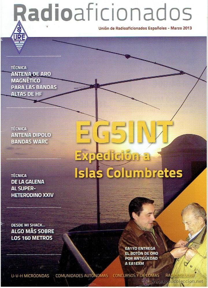 REVISA , RADIO AFICIONADOS MARZO DE 2012 (Radios, Gramófonos, Grabadoras y Otros - Catálogos, Publicidad y Libros de Radio)