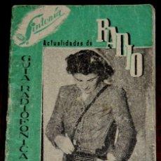 Radios antiguas: GUIA RADIOFONICA 1948, SINTONIA, 32 PAGINAS, MIDE 10,5 X 7,5 CMS. PUBLICACION EXTREMADAMENTE RARA DE. Lote 42565325
