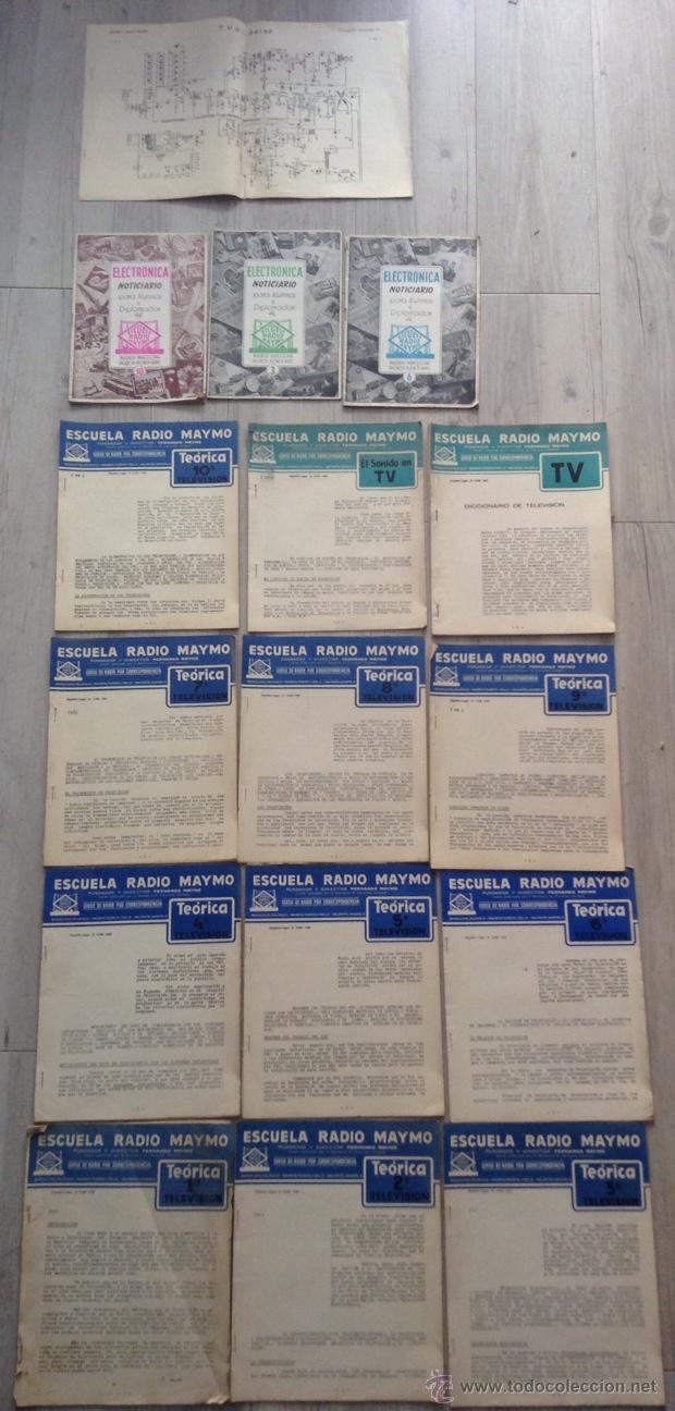 CURSO DE 1958 DE LA ESCUELA RADIO MAYMO DE TELEVISION + NOTICIARIOS (Radios, Gramófonos, Grabadoras y Otros - Catálogos, Publicidad y Libros de Radio)