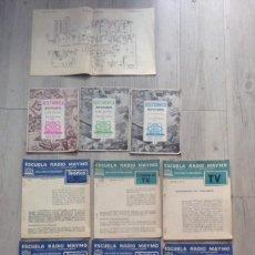 Radios antiguas: CURSO DE 1958 DE LA ESCUELA RADIO MAYMO DE TELEVISION + NOTICIARIOS. Lote 43265753