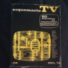 Radios antiguas: LOTE DOS LIBROS ESQUEMARIO TV 1964 Y TELE TUBES EDICION RADIO 1958 TELEVISION VALVULAS. Lote 43281002