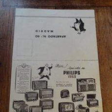 Radios antiguas: FOLLETO CATALOGO RADIO PHILIPS (TIPO SOBRE ). Lote 43515359
