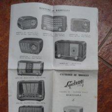 Radios antiguas: FOLLETO CATALOGO DE MUEBLES DE RADIO SUPERTONO . Lote 43520208