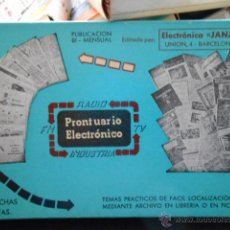 Radios antiguas: COLECCION PRONTUARIO ELECTRONICO. 950 FICHAS. ELECTRONICA JANZER. Lote 43558102