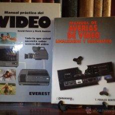 Radios antiguas: LOTE: MANUAL PRÁCTICO DEL VÍDEO / MANUAL DE AVERÍAS DE VIDEO. LOCALIZACIÓN Y DIAGNÓSTICO.. Lote 43709708