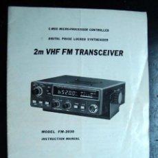 Radios antiguas: ELECTRONICA, INSTRUCCIONES, MANUAL - TRANSCEIVER 2M VHF FM - KDK FM2030. Lote 43881507
