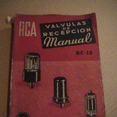 Radios antiguas: VALVULAS DE RECEPCION MANUAL.R.C.A.. Lote 43911450