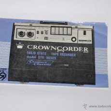 Radios antiguas: MANUAL CROWNCORDER SPY CTR-9650 S. Lote 44157008