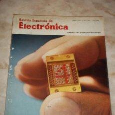 Radios antiguas: ANTIGUA REVISTA ESPAÑOLA DE ELECTRONICA RADIO--TV-COMUNICACIONES ABRIL 1971 MUM 197. Lote 44311692