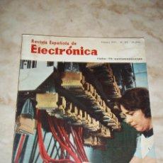 Radios antiguas: ANTIGUA REVISTA ESPAÑOLA DE ELECTRONICA RADIO--TV-COMUNICACIONES FEBRERO 1971 NUM 195. Lote 44311752