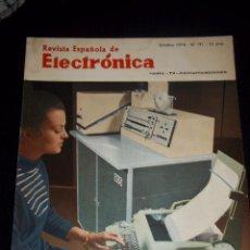 Radios antiguas: ANTIGUA REVISTA ESPAÑOLA DE ELECTRONICA RADIO--TV-COMUNICACIONES OCTUBRE 1970 Nº 191. Lote 44737170