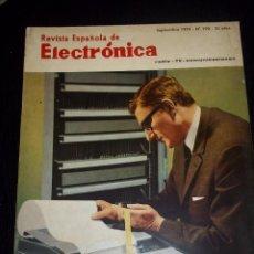 Radios antiguas: ANTIGUA REVISTA ESPAÑOLA DE ELECTRONICA RADIO--TV-COMUNICACIONES SEPTIEMBRE 1970 Nº 190. Lote 44737197