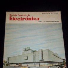 Radios antiguas: ANTIGUA REVISTA ESPAÑOLA DE ELECTRONICA RADIO--TV-COMUNICACIONES JUNIO 1970 Nº 187. Lote 44737287
