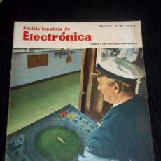 Radios antiguas: ANTIGUA REVISTA ESPAÑOLA DE ELECTRONICA RADIO--TV-COMUNICACIONES ABRIL 1970 Nº 185. Lote 44737390